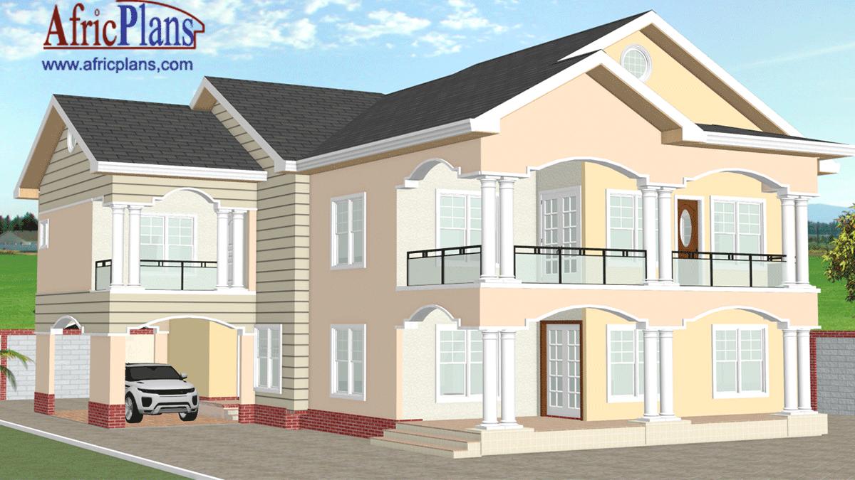 plan de maison r+1 en afrique