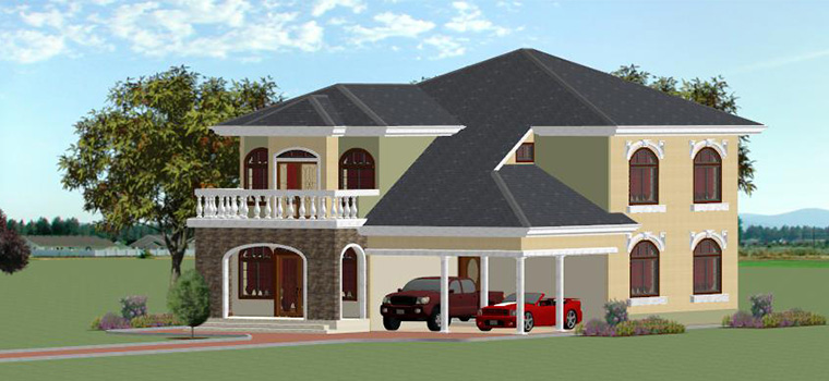 Welcome to africplans cameroon your home plans for africa for Plan de maison moderne au cameroun