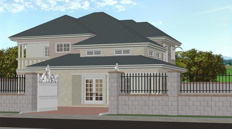 Villa Duplex Design building plans for africa - africplans - home