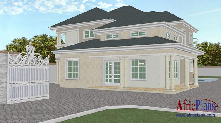 Duplex Fr House Plans For Africa Africplans Plans De Maison Pour L Afrique
